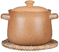 BAPYZ Heat Resistant Ceramic Casserole,Round Stockpot with Lid,Casserole Dish,Ceramic Cookware