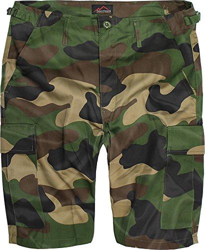 US Army Ranger Shorts BDU Cargo Kurze Hose Farbe Woodland Größe L