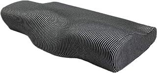 Ecloud Shop® Almohada de Espuma de Memoria Almohada Cervical Ajustable Soporte de Cuello de Almohada de Apoyo de la Cama de Apoyo para Personas Que Duermen de Espalda y de Lado (Negro)