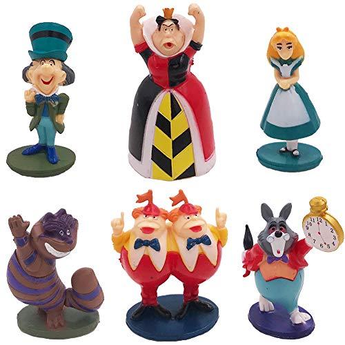 Princesa Cake Topper Mini Juego de Figuras Niños Alicia en el país...