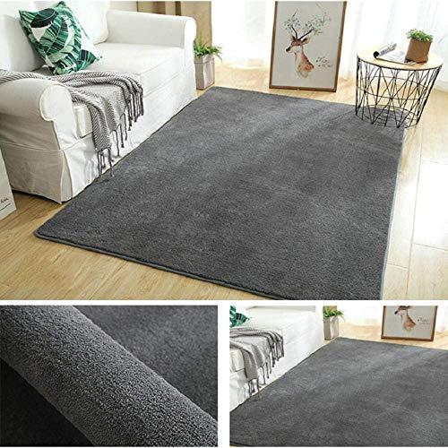 Alfombra grande y pequeña antideslizante, alfombra súper suave, alfombra gruesa para sala de estar, verde hierba_160 cm * 200 cm, alfombras mullidas para interiores lavables que no se desprenden
