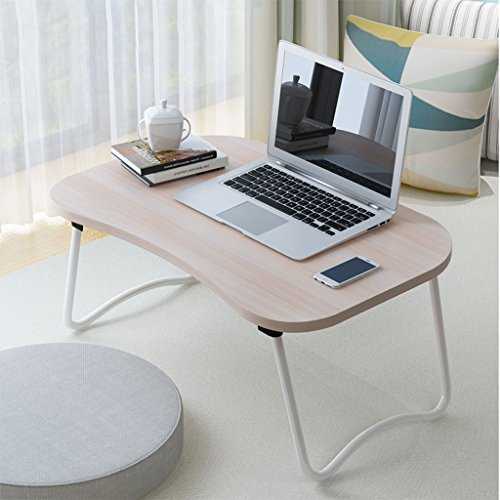 KKY-Enter Simple Table Pliante Woodgrain lit Portable Table Home Student résidence Pliable Scratch résistance Bureau stabilité (Couleur : B)