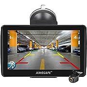 AWESAFE Navigation für Auto 7 Zoll Navi mit Rückfahrkamera, vorinstallierte 2019 Europa Karten, Lebenslang kostenlos Kartenupdate