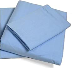 Cot Sheets (Fitted, Flat, Sets), 4 Piece Cot Sheet and Pillow Case Set - Blue- 1 cot fitted sheet 33