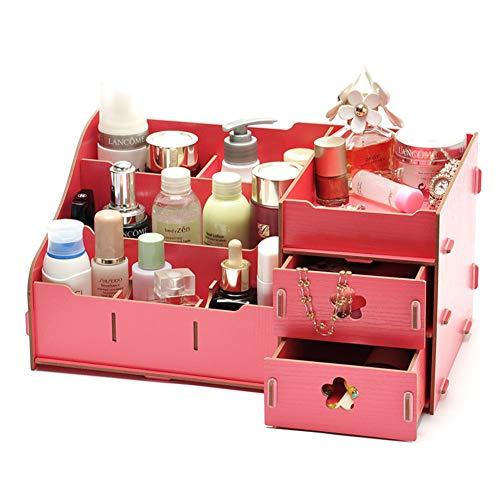 Lxmhz Make-up Organizer DIY Cosmetische Opbergdoos Cosmetische Organizer met meerlagige lade voor lippenstiften sieraden, nagellak, naaigaren