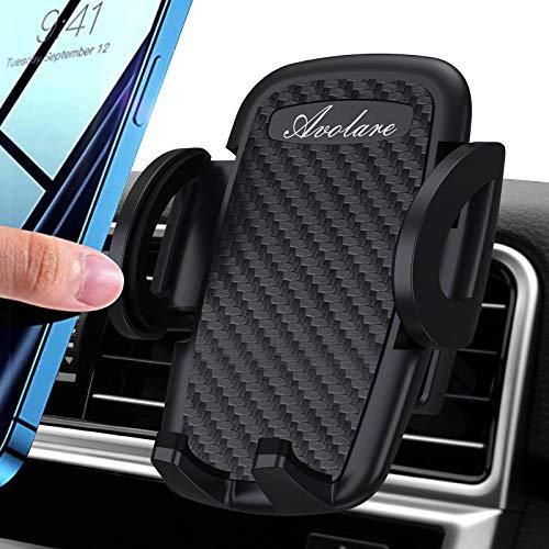 Avolare Handyhalterung Auto Handyhalter fürs Auto Lüftung Handy KFZ Halterungen Universal Kompatibel für iPhone 11 Pro,Xs Max, XR, X, 8, 7, 6, Samsung S10 S9 S8, Huawei Xiaomi(Matte Schwarz)