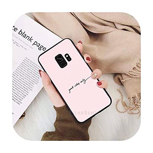 amor corazón rosa lindo smile teléfono caso para Samsung Galaxy S5 S6 S7 S8 S9 S10 S10e S20 borde más lite Shell cubierta Funda-a1-para S5