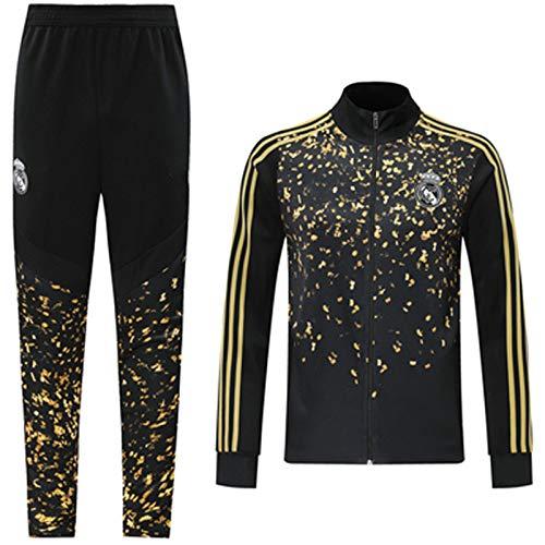 Reǎl Mǎdrid 2021 - Sudadera de fútbol para hombre, juego de chándal y pantalones de manga larga, técnica profesional, entrenamiento deportivo y ejercicio diario
