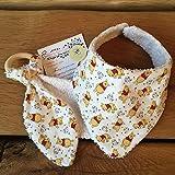 Handmade Winnie the Pooh Baby Bib and Bunny Ears Teether
