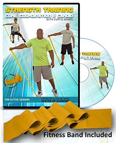 Exercise for Seniors- Strength Training, Core, Cardio, Coordination + Resistance Band. All Exercises Shown Standing & Seated. Senior Fitness That