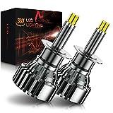 AUXIRACER Lampadine H1 LED Auto, 360 °CSP 60W 6000K 16000LM IP65 - Kit Lampada Sostituzione per Alogena Lampade e Xenon Luci, 2 Lampadine