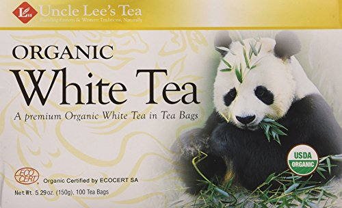 Uncle Lee's Tea- Organic White Tea, Premium Organic White Tea in Tea Bags 100ct