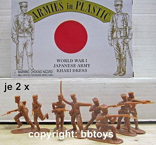 1 32 Armies in Plastic 5615 WKI Japan Armee in khaki Kleidung