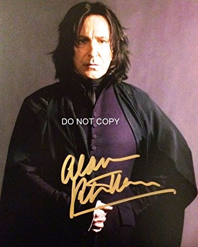 Alan Rickman signed autographed reprint photo as Professor Snape from Harry Potter #1 RP