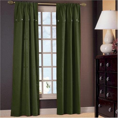 Chris Madden Hillside Flip Over Curtain Panel - Pesto Green
