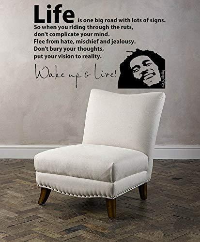 3D Poster Bob Marley Aufwachen Wandtattoo Vinyl Buchstaben Aufkleber Zitate Motivation Musik Vinyl Wand Vinyls Pared 56 * 40 Cm