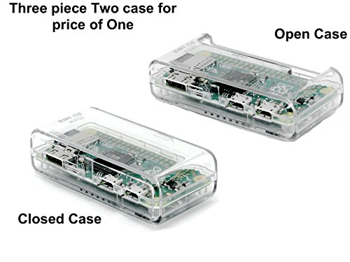 SB Raspberry Pi Zero Case - **ACCESS to all Ports **Clear/Transparent mounted in 30 seconds OPEN (Clear)
