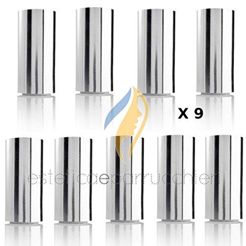 9 Carta Stagnola Alluminio per Colore Meches Capelli Rotolo Carta Argentata Professionale per Parrucchiere 12x130