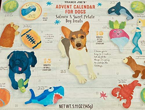 Trader Joes Dog Advent Calendar--2020--Healthy Salmon and Sweet Potato...