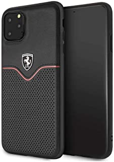 Ferrari Leather HardCase Victory For iPhone 11 Pro Max - Black, FEOVEHCN65BK