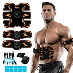 💪WHAT'S FOR? - The USB Rechageable training equipment is for body training. This Ultimate ABS Stimulator can help to tone, tighten and strenghten your body, you can gain a better figure after consecutive use of this product for about 2 months. 💪HOW T...