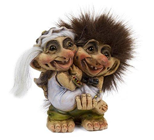 ORIGINAL NORWEGISCHE TROLLE * NyForm Troll mit Zertifikat 094 * BRAUTPAAR Hochzeit 10cm