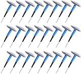 XinXinLan 24Pcs Véhicule Tubeless Pneu Crevaison Réparation De La Tête De Champignon Plug Patch Gencives (6mm)