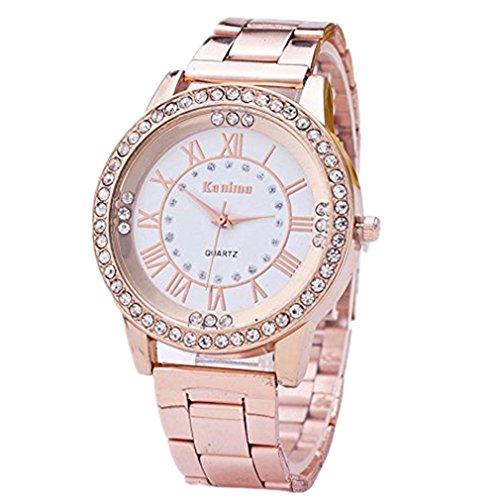 Womens Rhinestone Quartz Watches, Ladies Waterproof Fashionable High...
