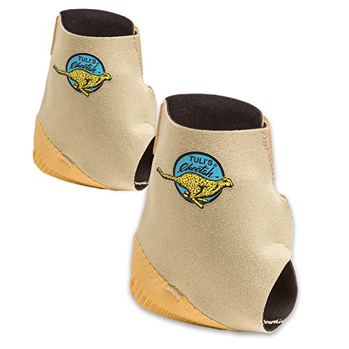 Tuli's Cheetah Heel Cup for Barefoot Activities, Includes 2 Cheetahs, Adult, One Size Fits All, 1 Pair