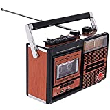 ZHIRCEKE La grabadora de Voz portátil, la Radio Retro, la Radio de 4 Bandas, el Disco Bluetooth U, la Tarjeta SD y los Auriculares se Pueden Insertar para la reproducción.