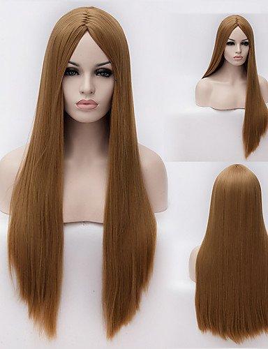 Perruques européens mode cheveux de haute qualité de soie à haute température européens et américains longue perruque cheveux lisses Fashion Girl nécessaire