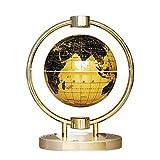 SCZZ 6 Inch Globe Levitating Speaker, 0 Noise Bluetooth Magnetic Levitation Speaker,with LED Lights Home Office Desk Decoration,Gold