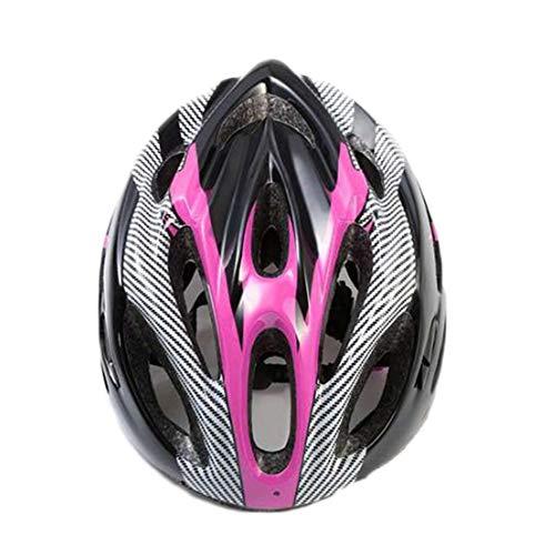 YOUCAI Casco MTB Adulto Hombres Mujer Moda Ajustable Cascos Bici Rosa Negro