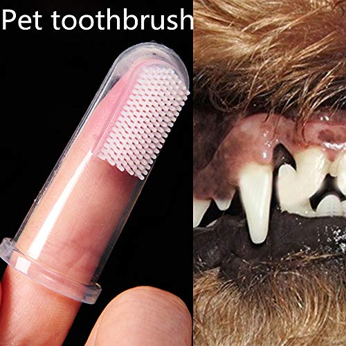 Gaddrt 5 cm super weiche Haustier-Fingerzahnbürste Teddy Hund Bürste Mundgeruch Zahnpflege Hund Katze Reinigungszubehör