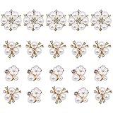 30 Pcs Bulk Brooches, Rhinestone Pearl Embellishments Faux Pearl Flower Embellishments Pea...