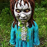 Horrorfilm Gartenzwerge, Mörder Gartendekoration, Halloween Albtraum Horror Gnom, Gruselige Untote Halloween-Skulptur Gartenfigur für Terrasse, Hof oder Rasen (J)