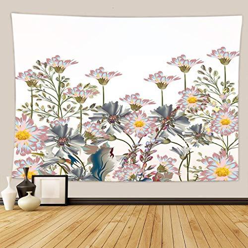 WERT Tapiz de la Serie de Flores y paisajes, Revestimiento de Pared Decorativo Junto a la Cama Familiar, Tapiz de Fondo de Tela para Dormitorio A15 150x200cm