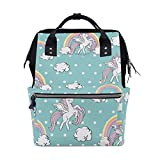 FHTDH Bebé Cambio de pañales Bolsos cambiadores Mochi Christmas Stockings Gloves Snowflake Pattern Diaper Bags Mummy Tote Bags Large Capacity Multi-Function Backpack for Travel