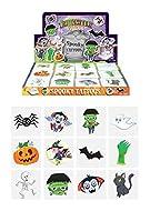 Henbrandt 60 x Spooky Halloween Vampire Pumpkin Bats Kids Pretend Transfers Tattoos