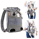 PETTOM - Zaino in rete traspirante con cerniera laterale, per cani e gatti, adatto per animali con un peso di non più di 12 kg