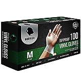 Gorilla Supply Heavy Duty Vinyl Gloves Medium Box of 100 Powder Free 4mil Disposable...