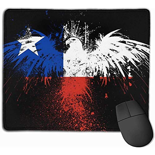 Mauspad mit Gummiunterlage, Mauspad mit genähten Kanten, Mauspads Chile Flagge