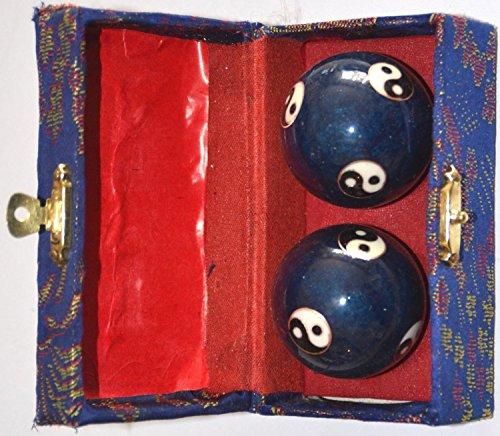 Quigong Klangkugeln - Ying Yang blau