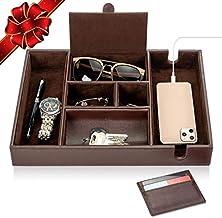 Makuzo Valet Tray for Men | Dresser Top Organizer | EDC Dump Tray | Nightstand Organizer Tray | Gifts for Men Women | Table Organizer | Remote Control Caddy | Mens Jewelry Box Organizer | Key Tray