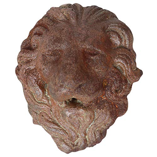 aubaho Löwenkopf Löwe Dekoration Eisen Wandbrunnen Wasserspeier Skulptur Figur a