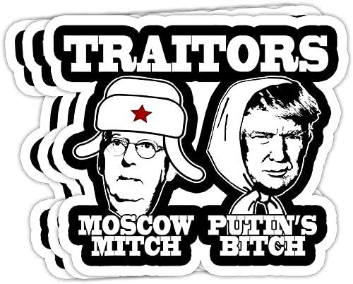 Traitors Moscow Mitch PUTINS Bitch Ditch Russia Trump Meme Gift Decorations - Vinyl Stickers Laptop Decal Water Bottle Sticker Vinyl Sticker,Funny Sticker, Gift Sticker