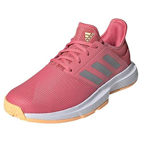 adidas,Womens,Gamecourt,Halo Amber/Silver Metallic/Screaming Pink,9