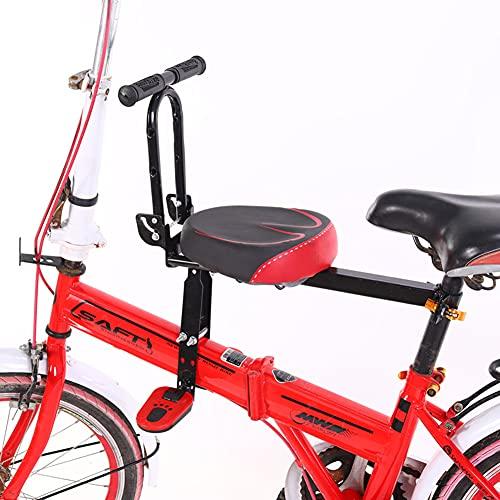 JTYX Bicicleta Asiento para niños Asientos de Bicicleta montados en la Parte Delantera con Pedales Reposabrazos Bicicleta Plegable Asiento Delantero para niños