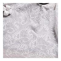 JZGS 100x140cm綿100%生地刺繍ホワイト中空レースの布縫製生地パッチワークのウェディングドレス手作りの素材について (Color : 15, Size : 100x140cm)