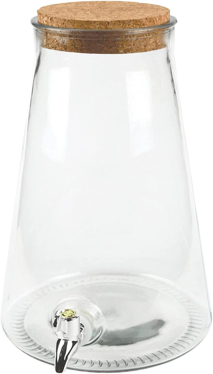 秀逸 Circleware Island Quench セール価格 Glass Beverage with Dispenser Cork Lid